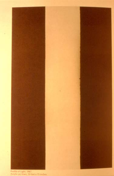 Profile of Light. Barnett Newman. Óleo sobre lienzo. 1967